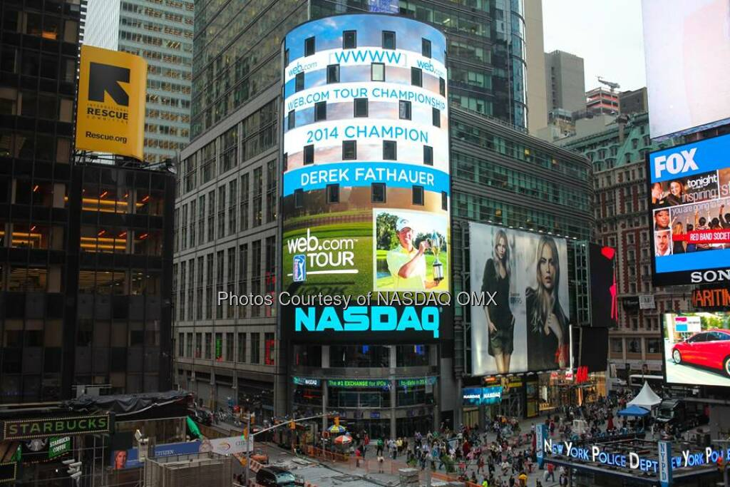 Congratulations to Derek Fathauer, winner of @WebDotComTour's 2014 @WebDotCom Championship #WebTour  Source: http://facebook.com/NASDAQ (26.09.2014)