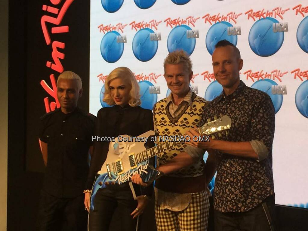Wow!!!! @rockinriousa brought @nodoubt to @NASDAQ! #RockinRioUSA  Source: http://facebook.com/NASDAQ (27.09.2014)