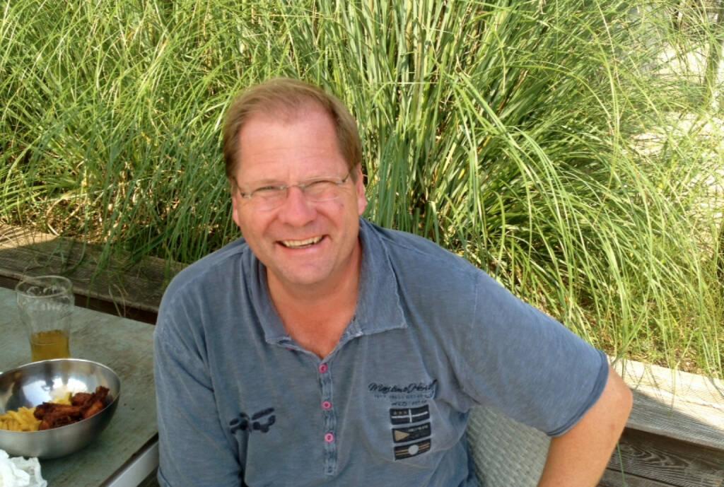 Mit Ex-Herold-Boss Jon Martinsen beim Wasserskilift (27.09.2014)