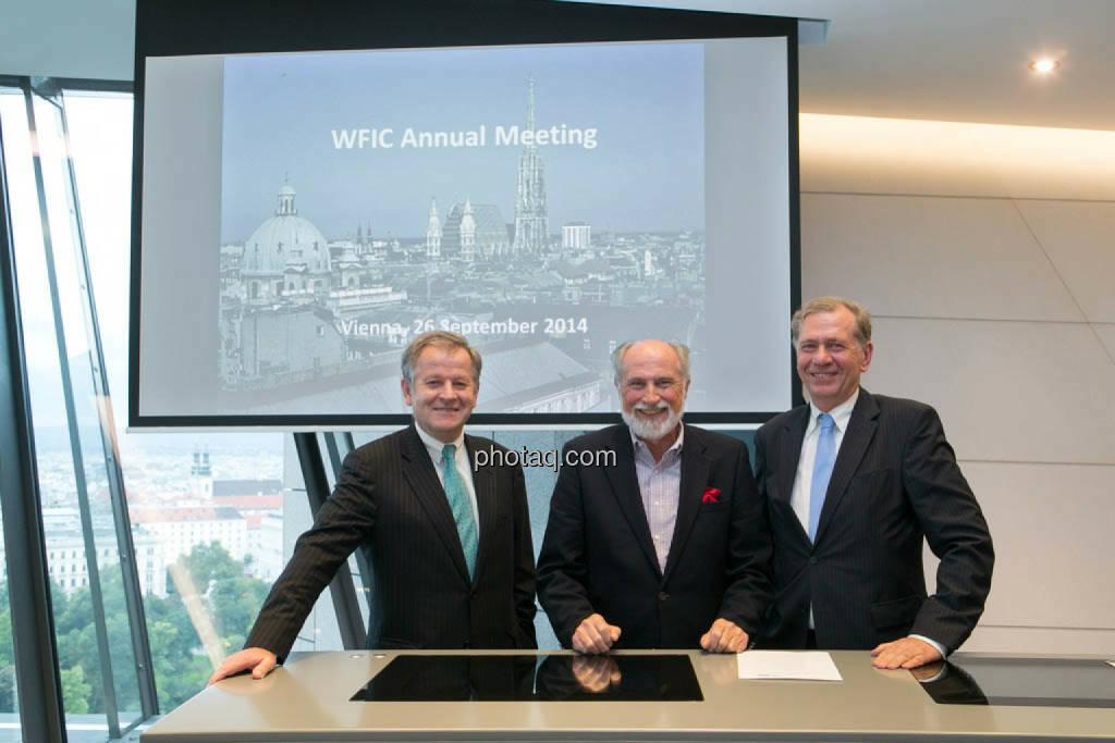 Eduard Zehetner (Immofinanz), Roger Ganser (WFIC), Wilhelm Rasinger (IVA), © photaq/Martina Draper (27.09.2014)