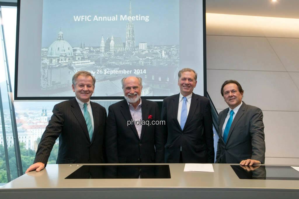 Eduard Zehetner (Immofinanz), Roger Ganser (WFIC), Wilhelm Rasinger (IVA), Peter Muzik (Media Consultant), © photaq/Martina Draper (27.09.2014)