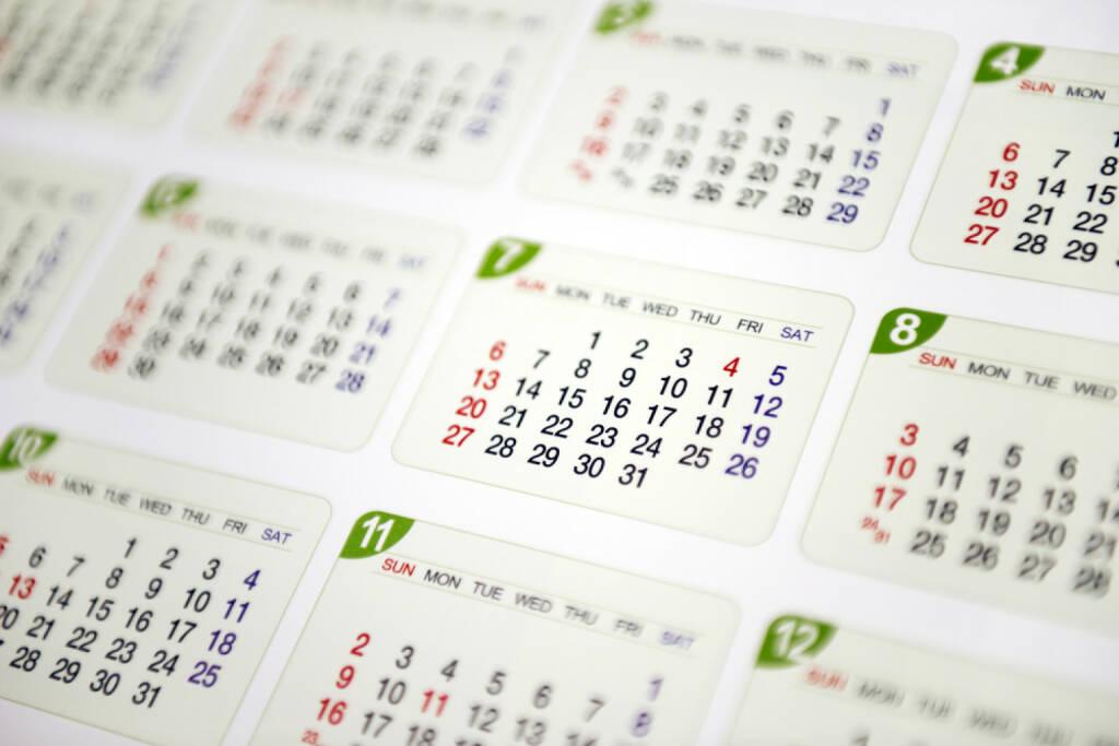 Wandkalender, Kalender, Jahresplaner, Planung, Datum, http://www.shutterstock.com/de/pic-198112373/stock-photo-calendar.html, © www.shutterstock.com (22.07.2018)