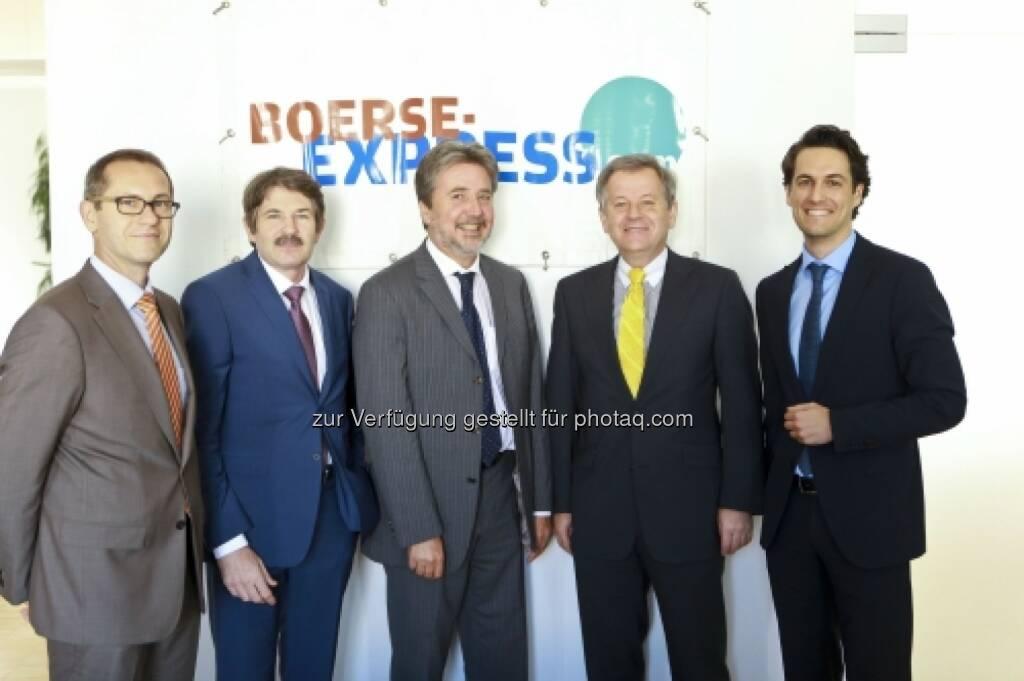 Günther Artner (Erste Group), Ernst Vejdovszky (S-Immo), Karl Bier (UBM), Eduard Zehetner (Immofinanz), Martin Rupp (Fondsmanager), © Elke Mayr (29.09.2014)