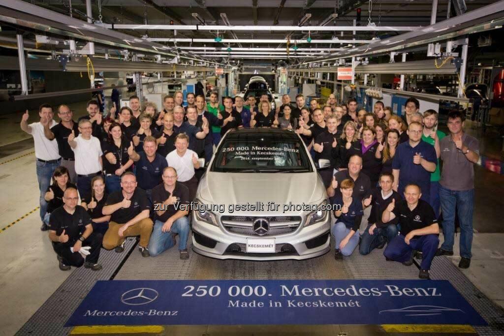 250.000ster Mercedes-Benz läuft im Werk Kecskemét (Ungarn) vom Band , © Aussendung (29.09.2014)