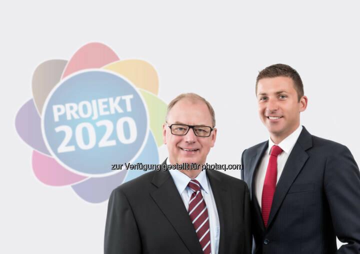Hofer-Hauptgeschäftsführer Friedhelm Dold und Günther Helm: Hofer KG: Mir schmeckt's restlos: Hofer startet Initiative gegen Lebensmittelverschwendung