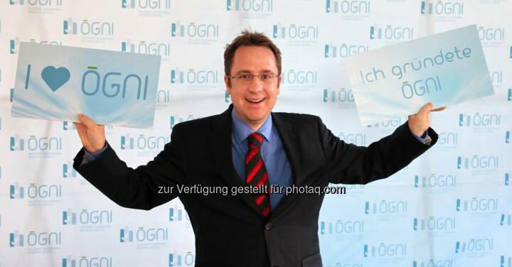 Gründungspräsident Philipp Kaufmann freut sich über das fünfjährige Bestehen der Ögni
