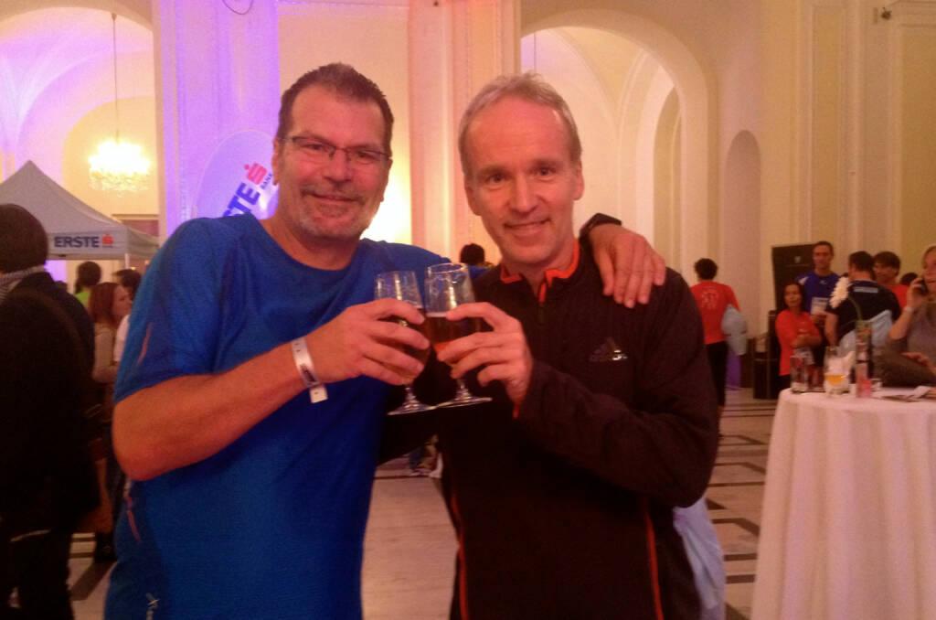 Schulkollege 2: Thomas Weimann, Vater vom Teamstürmer Andreas Weimann, mit Christian Drastil (30.09.2014)