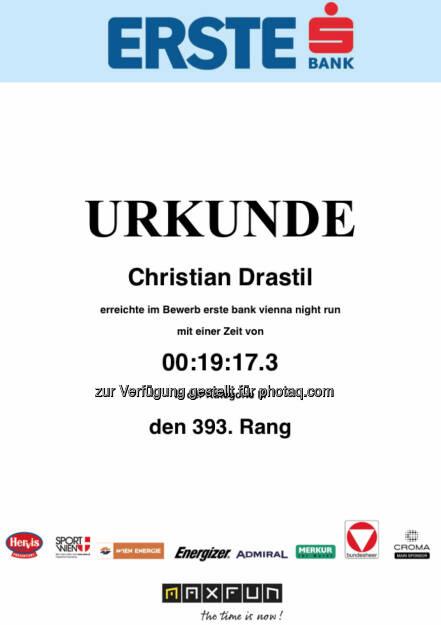 Urkunde 5k in 19:17,3, eh brav (30.09.2014)