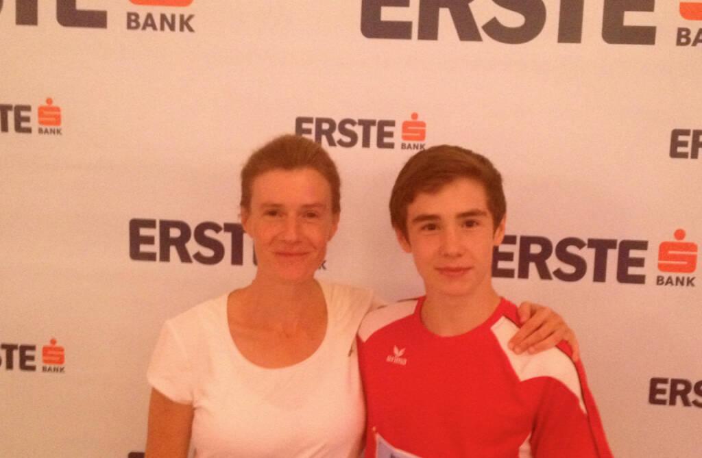 Runplugged-Fotografin Martina Draper mit Sohn Nikolas (30.09.2014)