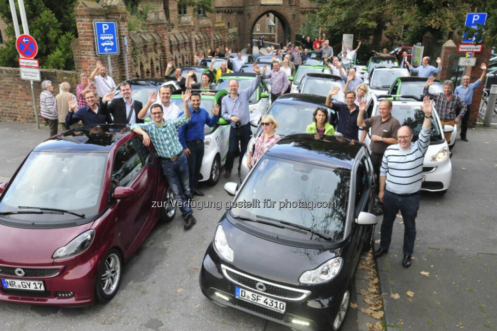 RWE: Rund 150 Teilnehmer in den Regionen Rhein-Ruhr und Berlin/Potsdam haben mehr als 500.000 Kilometer rein elektrisch zurückgelegt. Sie sind Teil des Elektromobilitätsprojektes eMerge (elektromobile Modellregionen), das mittlerweile seit November 2013 läuft. , © Aussendung (01.10.2014)