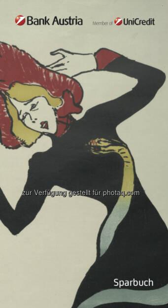 """Ein """"echter"""" Toulouse-Lautrec - Das Bank Austria KünstlerSparbuch 2014. Mit einer Einlage ab 500 Euro sichert man sich mit dem KünstlerSparbuch garantierte 0,75 Prozent p.a. Fixzinsen bei 24 Monaten Laufzeit. (Bild: Bank Austria), © Aussendung (01.10.2014)"""
