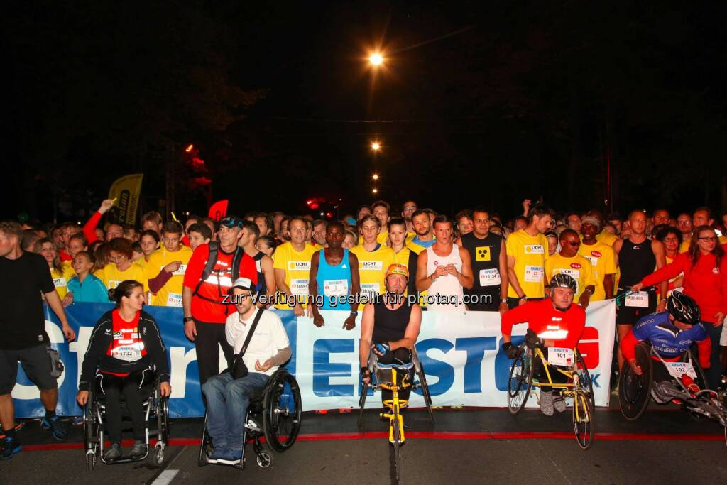 erste bank vienna night run, vor dem start, © leisure/Ludwig Schedl (02.10.2014)