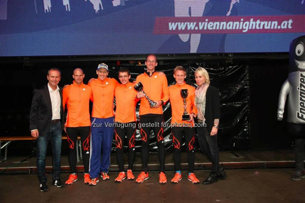 Hannes Menitz, Veranstalter des erste bank vienna night runs, Team Adidas Booster, Christine Grafinger, © leisure/Ludwig Schedl (02.10.2014)