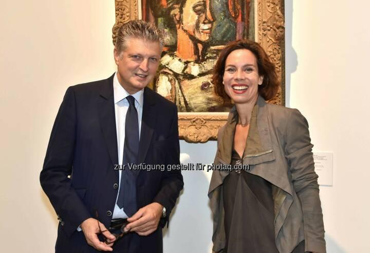 Artcurial Gründer François Tajan und Caroline Messensee (Leiter Artcurial Niederlassung Wien): Das französisches Auktionshaus Artcurial eröffnete seine Dependance in Wien, um die Kunstmetropole enger mit dem internationalen Auktionsgeschehen zu verbinden. leisure.at/Christian Jobst)