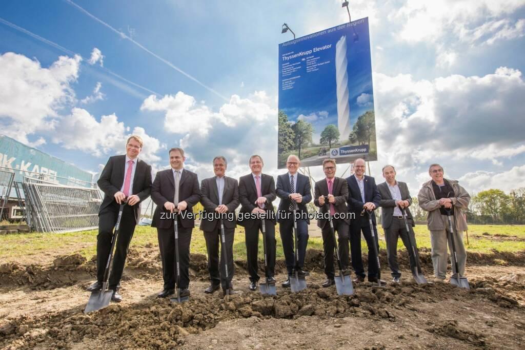ThyssenKrupp: Erster Spatenstich: Bau des Testturms in Rottweil gestartet, © Aussendung (02.10.2014)