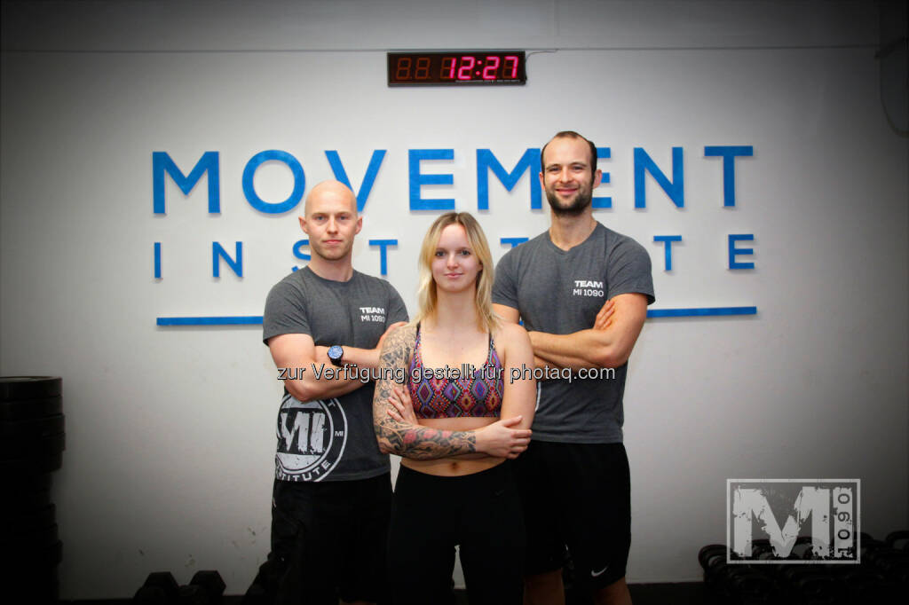 Andreas Mohr (MI 1090), Sofia Finker (Urban Yoga Vienna), Sebastian Baumann (MI 1090): Artline Design: Urban Yoga @ Movement Institute 1090 - CrossFit meets Yoga., © Aussendung (02.10.2014)