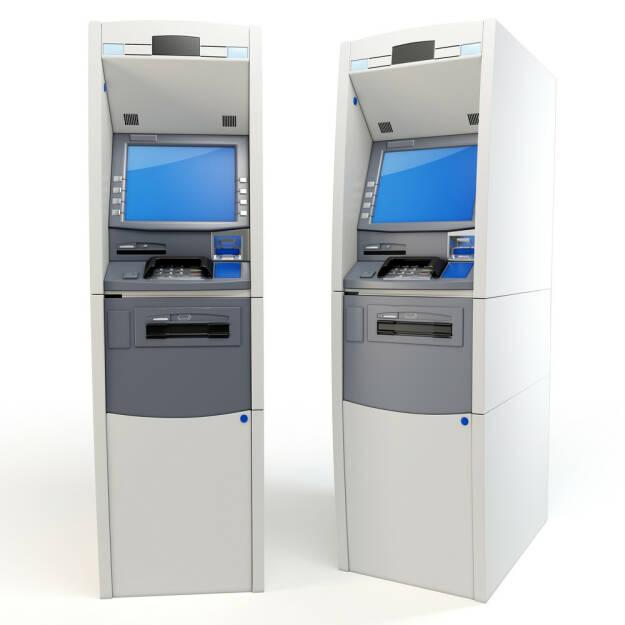 Bank, Geldausgabeautomat, Bankomat, http://www.shutterstock.com/de/pic-79890670/stock-photo--d-atm-machines-detailed-isolated-on-white.html (07.10.2014)