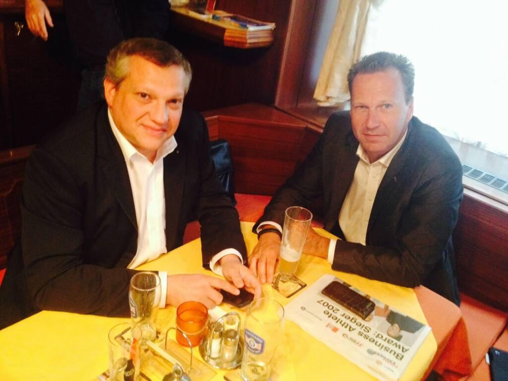 Mit Mario Mathera und Oliver Olbrich über Finanz- und Sportprojekte gesprochen (08.10.2014)