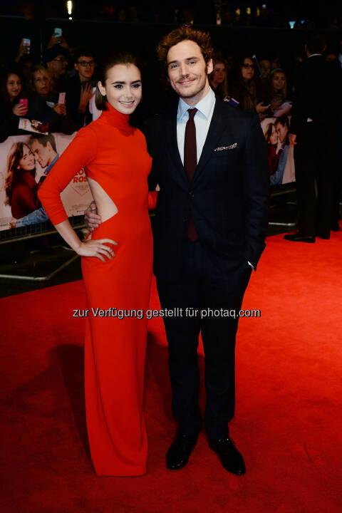 Lily Collins und Sam Claflin bei der Weltpremiere von ...