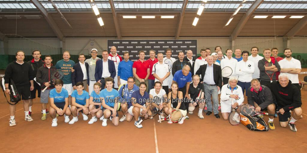 Gruppenbild aller TeilnehmerInnen, Rado ProAm, Colony Club Wien, im Rahmen der Erste Bank Open 2014, Copyright: e-motion/Bildagentur Zolles KG/Leo Hagen, © Aussendung (12.10.2014)