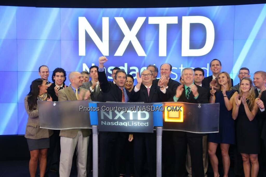 NXT-ID Inc ringing the NASDAQ Opening Bell in celebration of recent #IPO! $NXTD  Source: http://facebook.com/NASDAQ (13.10.2014)