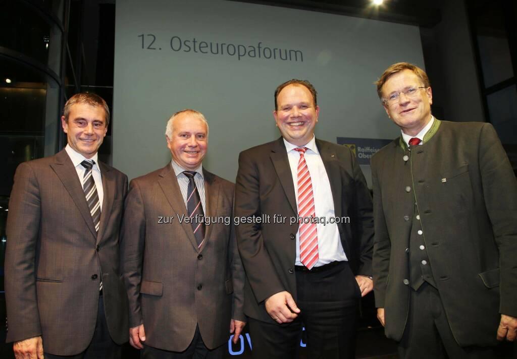 Heinrich Schaller, Alexander Rahr, Marc Deimling, Heinz Pöttinger, © RLB OÖ/Strobl  (14.10.2014)
