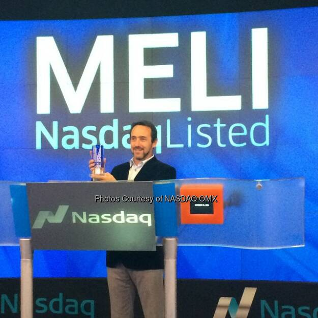 MercadoLibre, Inc. receives the #Nasdaq Closing Bell crystal! $MELI @mercadolibreofficial  Source: http://facebook.com/NASDAQ (15.10.2014)