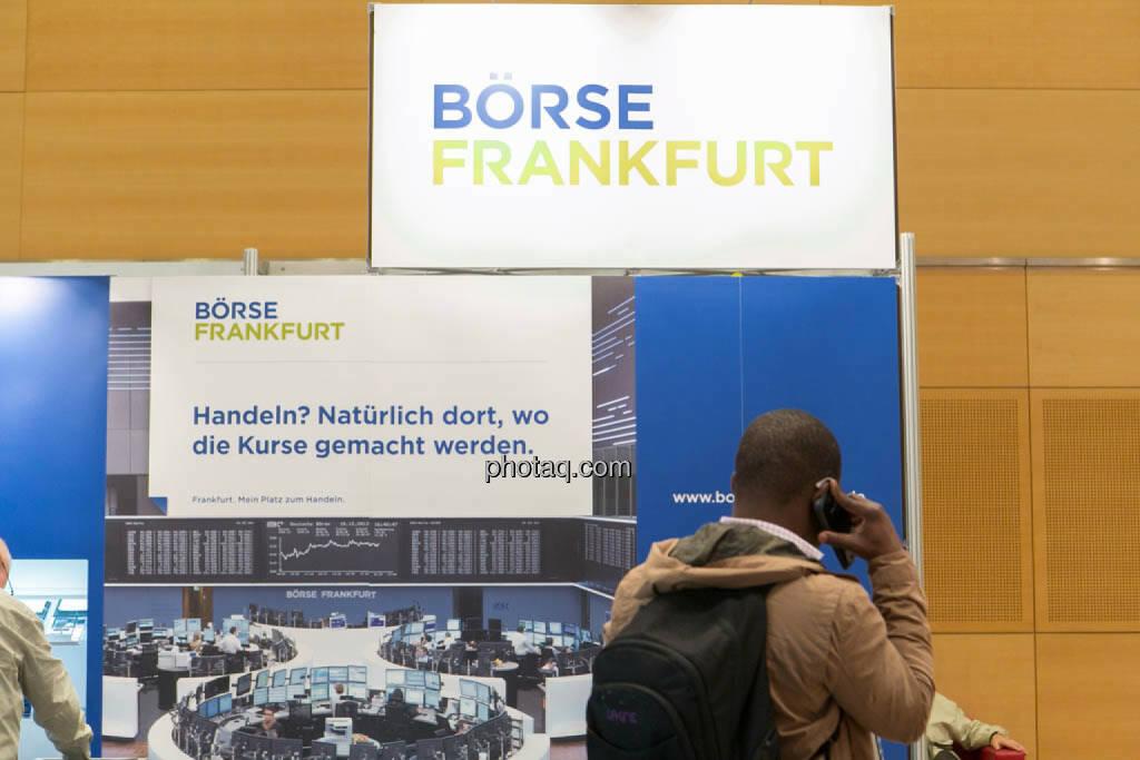 Börse Frankfurt, telefonische Order, Order, Trading, © photaq/Martina Draper (16.10.2014)