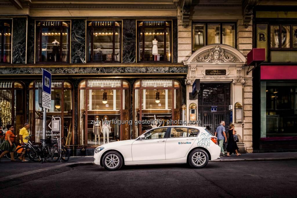 DriveNow, das Carsharing Joint Venture der BMW Group und der Sixt SE, startet sein Carsharing Angebot in Wien. Foto: DriveNow +++, © Aussendung (17.10.2014)