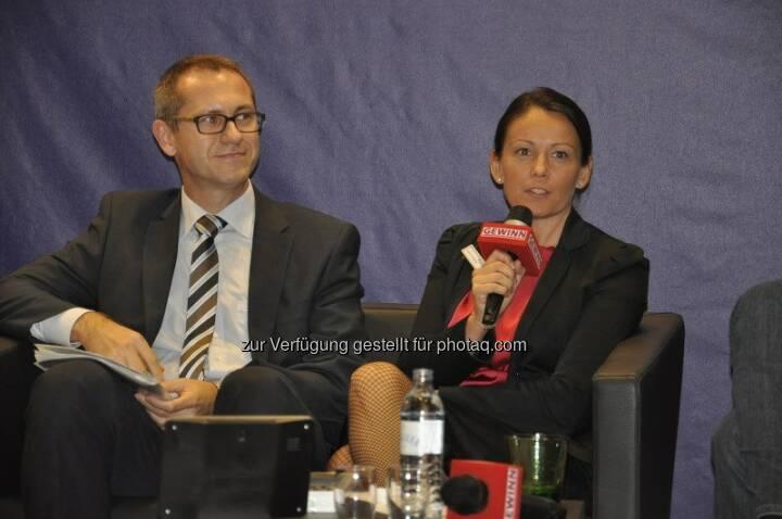 GEWINN-Messe 2014: Beatrix Schlaffer, Bereichsleiterin Brokerjet Vertrieb, diskutierte mit Günther Artner (Erste Group) und anderen hochkarätigen Gästen zum Thema Trading mit Zukunft.  Source: http://twitter.com/brokerjet