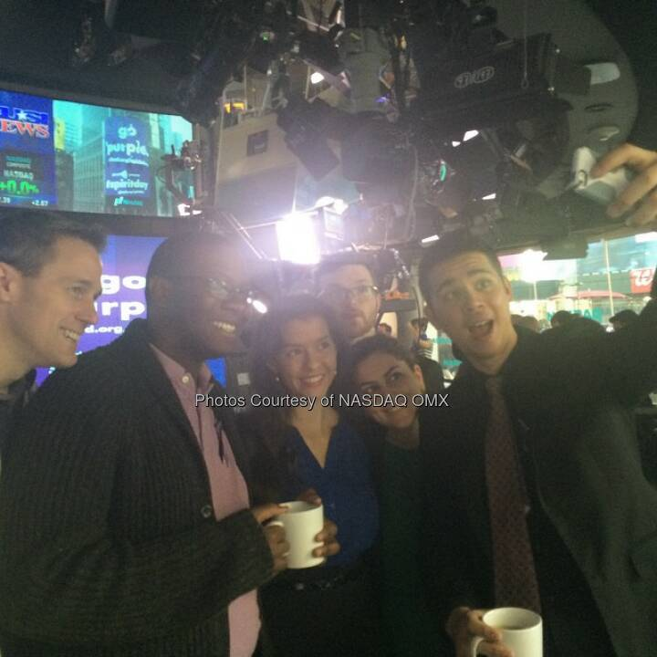 #Selfie to celebrate @Glaad #Spiritday here at #NASDAQ!  Source: http://facebook.com/NASDAQ
