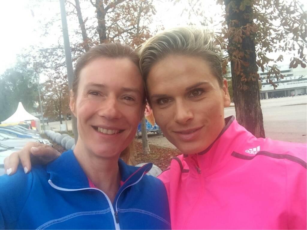 Elisabeth Niedereder (Tristyle) beim LCC Herbstmarathon, © mit Genehmigung der jeweiligen Selfiesierenden (19.10.2014)
