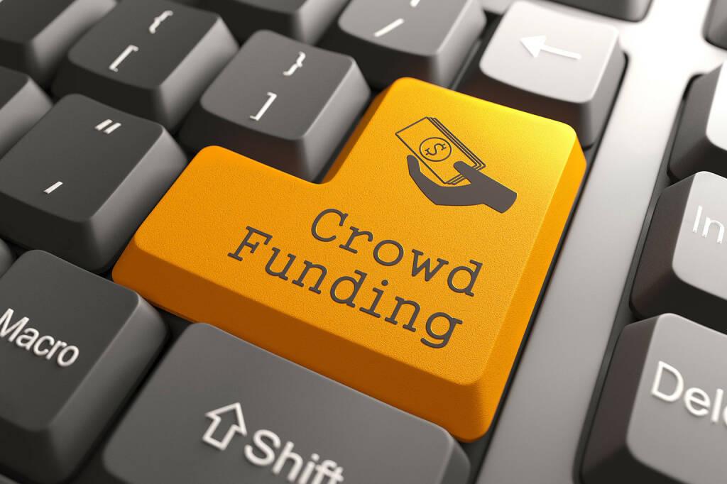 Crowdfunding, Tastatur, orange Taste - http://www.shutterstock.com/pic-149428370.html, © www.shutterstock.com (21.01.2017)