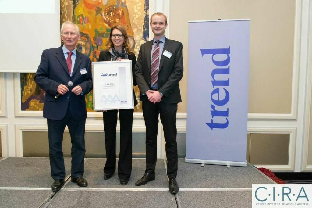 Franz C. Bauer (Trend), Ulrike Middelhoff (Agrana), Hannes Haider (Agrana), © C.I.R.A. (21.10.2014)