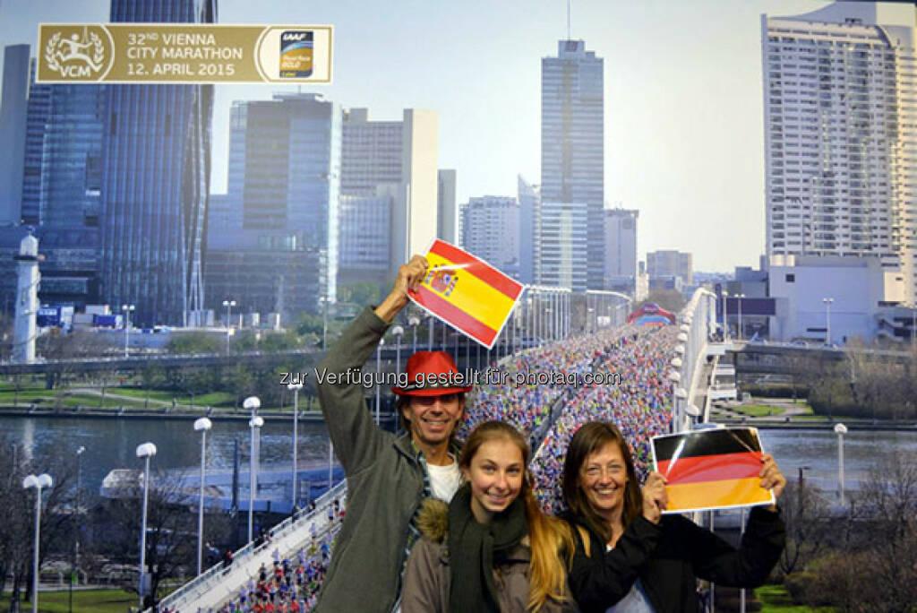 """Mit einem """"We are Europe""""-Foto kannst man ein VCM-Package mit Startplatz beim Vienna City Marathon am 12. April 2015 und der Nächtigung beim unserem Offiziellen Hotelpartner Austria Trend Hote gewinnen., © Aussendung (23.10.2014)"""