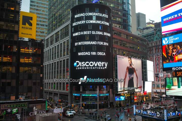 Nasdaq congratulates Discovery Communications, named a best global brand by Interbrand! #dreamBIG Discovery $DISCA http://spr.ly/6180qqRM  Source: http://facebook.com/NASDAQ