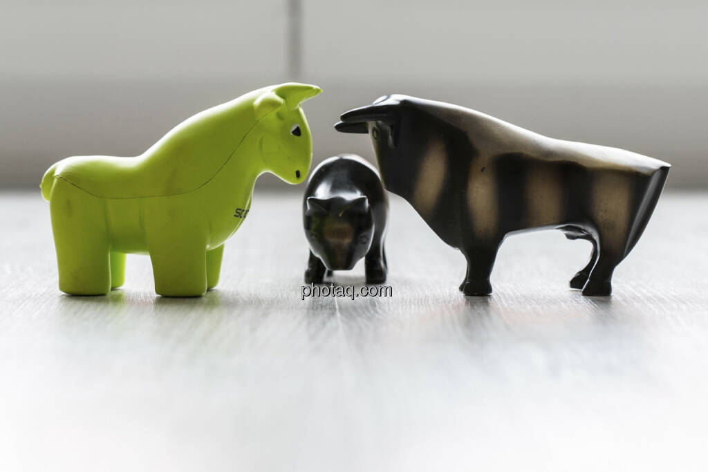 Scoachy, Bär, Bulle, © finanzmarktfoto.at/Martina Draper (30.01.2013)
