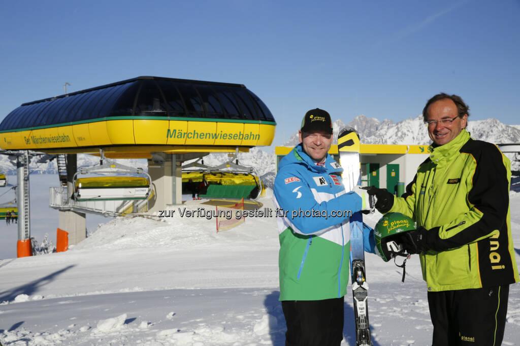 ÖSV Speed Ass Klaus Kröll: Planai-Hochwurzen-Bahnen GmbH: Viele Skibegeisterte genießen den ersten Skitag auf der Planai!, © Aussendung (26.10.2014)