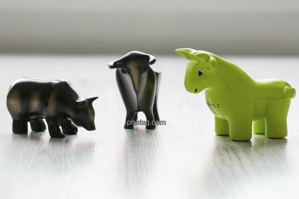 Bär, Bulle, Scoachy, © finanzmarktfoto.at/Martina Draper (30.01.2013)