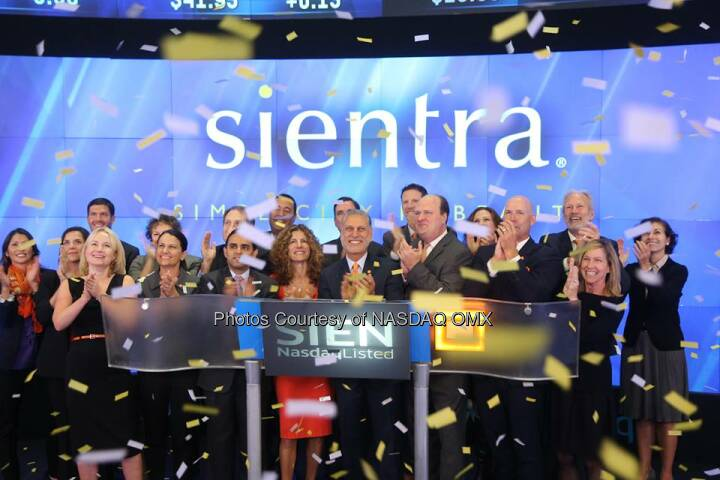 Great photos of Sientra ringing the #Nasdaq Opening Bell in celebration of #IPO today! $SIEN  Source: http://facebook.com/NASDAQ