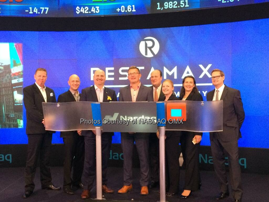 Restamax Oy rings the #Nasdaq Closing Bell! $RESTA  Source: http://facebook.com/NASDAQ (30.10.2014)