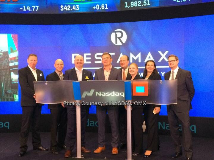 Restamax Oy rings the #Nasdaq Closing Bell! $RESTA  Source: http://facebook.com/NASDAQ