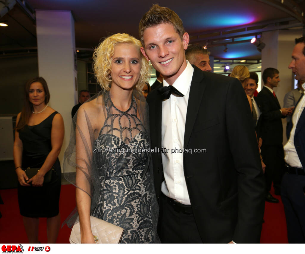 Thomas Morgenstern mit Freundin, Lotterien Gala Nacht des Sports, Photo: Gepa pictures/ Walter Luger, ©  Gepa pictures/ Michael Riedler (31.10.2014)