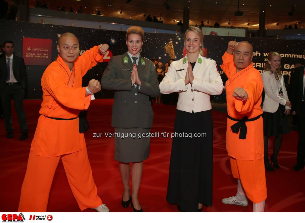 Joerdis Steinegger, Lisa Zaiser and Shaolins, Lotterien Gala Nacht des Sports, Photo: Gepa pictures/ Hans Oberlaender, ©  Gepa pictures/ Michael Riedler (31.10.2014)
