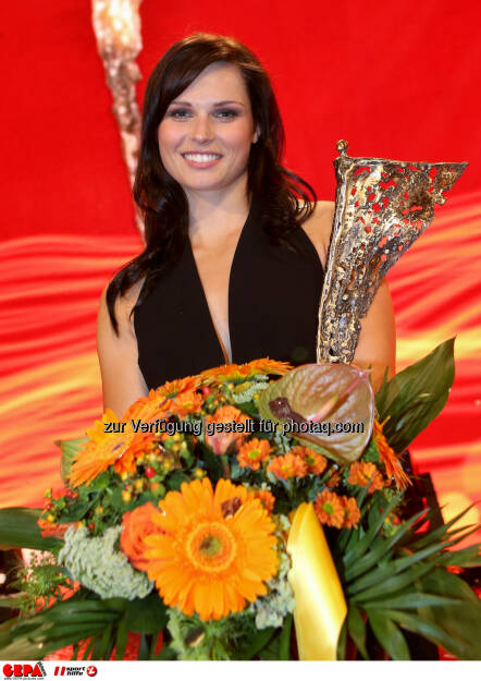 Anna Fenninger, Sportlerin des Jahres, Lotterien Gala Nacht des Sports, Photo: Gepa pictures/ Christian Walgram, ©  Gepa pictures/ Michael Riedler (31.10.2014)