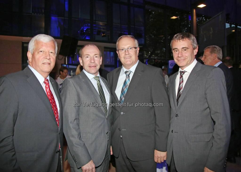 Jakob Auer (Aufsichtsratspräsident), Max Hiegelsberger (Landesrat), Franz Reisecker (Präsident der Landwirtschaftskammer OÖ), Heinrich Schaller (Generaldirektor RLB OÖ) (Bild: RLB OÖ/Strobl) (01.11.2014)