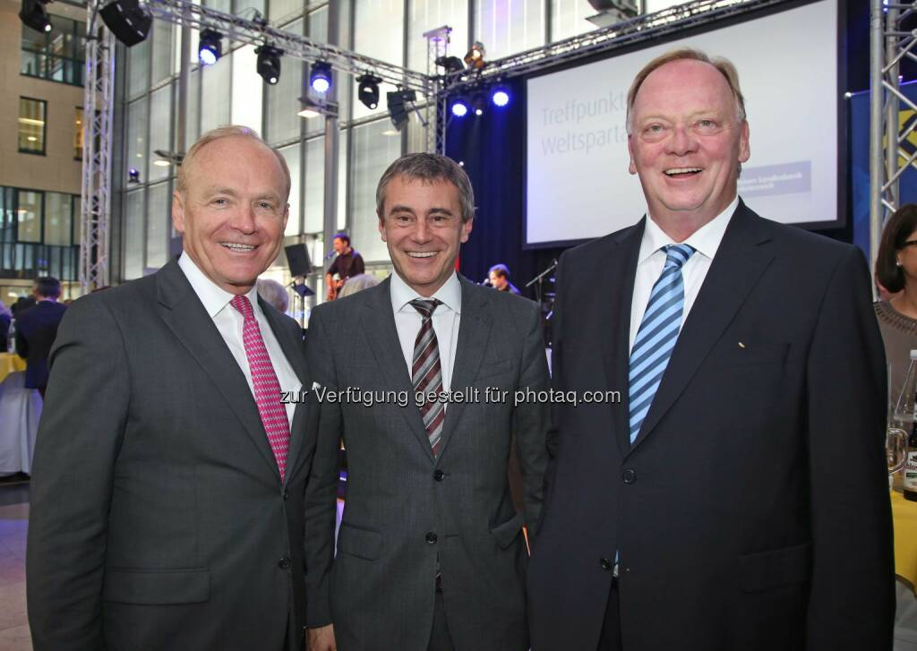 Helmut Wieser (AMAG-Generaldirektor), Heinrich Schaller (Generaldirektor RLB OÖ), Gerhard Falch (Ex-AMAG-Generaldirektor) (Bild: RLB OÖ/Strobl) (01.11.2014)