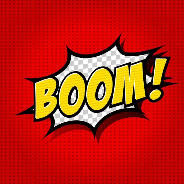 Boom, Knall, Knalleffekt, Explosion, http://www.shutterstock.com/de/pic-156901574/stock-vector-boom-comic-speech-bubble-cartoon.html, © www.shutterstock.com (21.07.2018)