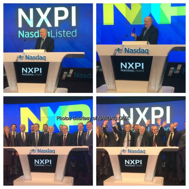 NXP Semiconductors rings the #Nasdaq Closing Bell! $NXPI #N100  Source: http://facebook.com/NASDAQ (05.11.2014)