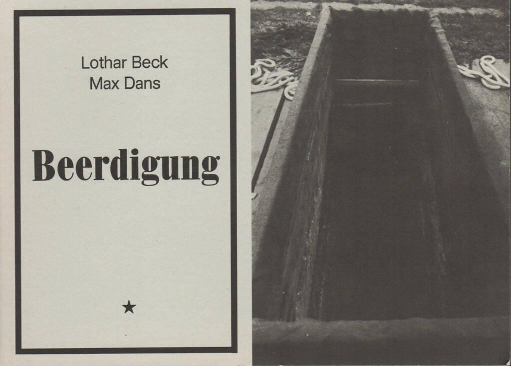 Lothar Beck & Max Dans - Beerdigung, Internationalismus Verlag 1977, Cover - http://josefchladek.com/book/lothar_beck_max_dans_-_beerdigung, © (c) josefchladek.com (05.11.2014)